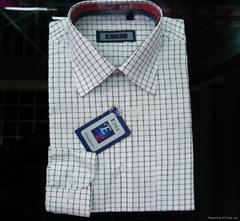 T/C 男式衬衫(格子布)
