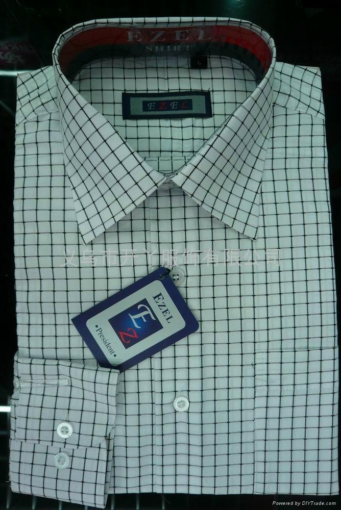 T/C 男式衬衫(格子布) 4