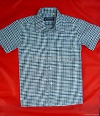 全棉男童格子衬衫