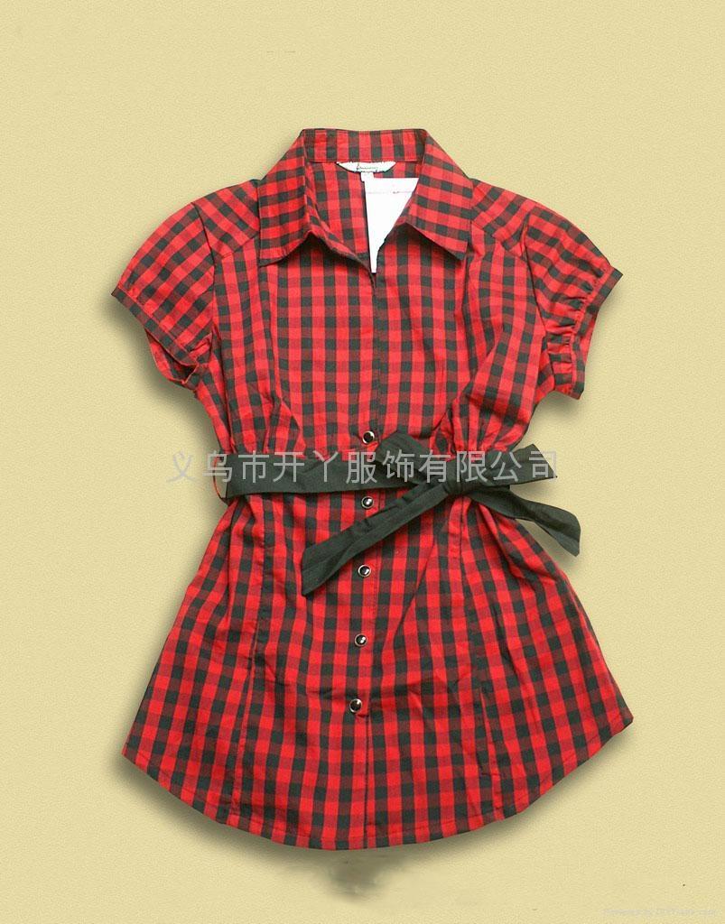 女式全棉休闲衬衫 1