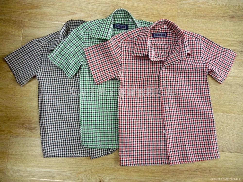 全棉男童格子衬衫 1