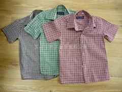boy cotton plaids shirt
