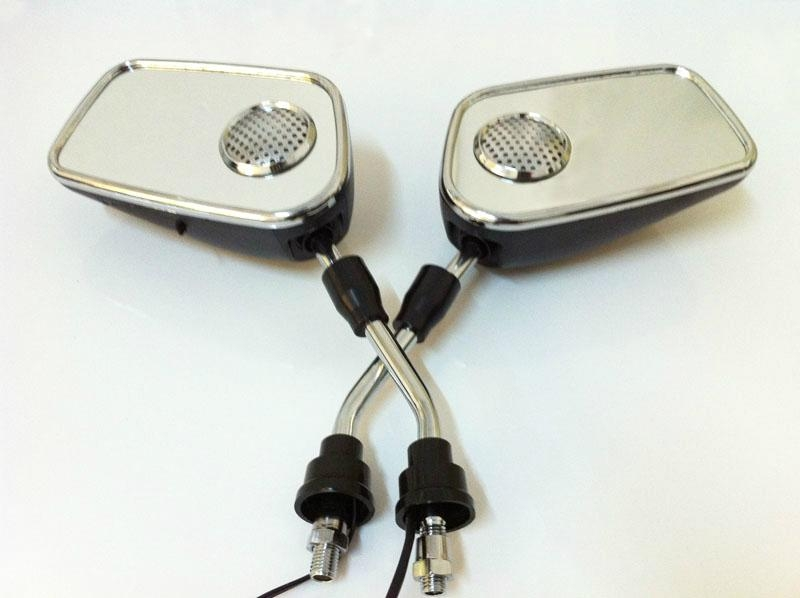 Motorcycle MP3 Rear-view Mirror with Alarm 1