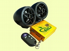 Black prince motorcycle alarm with mp3 and FM and speaker