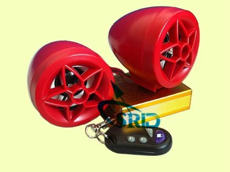 New design,alarm on motorcycle  with speaker in red color 1