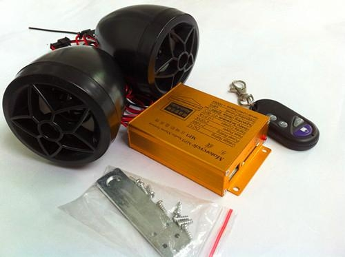 Motorcycle alarm with MP3 in black color 2