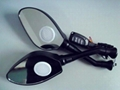 Motorcycle rearview mirrors with MP3 and FM function 2