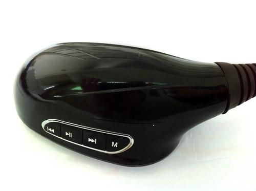 Motorcycle rearview mirriors with MP3 and FM function in black color 2