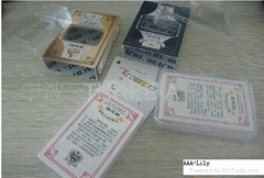 Playing cards-07 (PVC poker/ plastic cards)