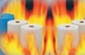 Antiflaming nonwoven fabric