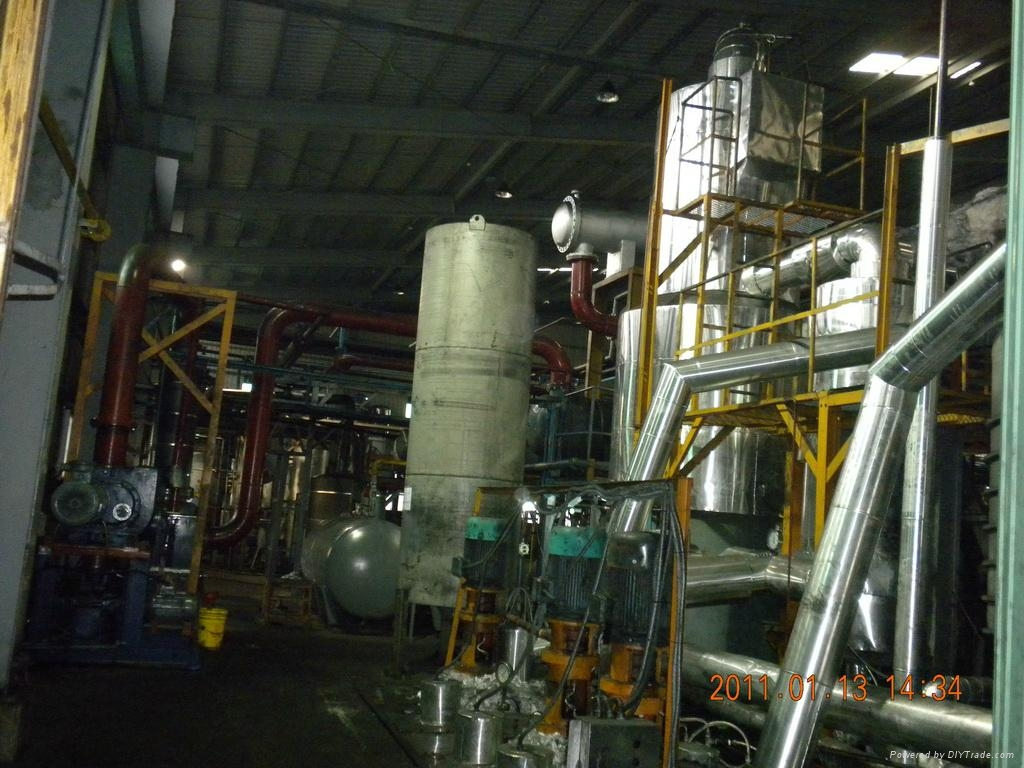 As air is blowing from the bottom of oxidation tower, vacuum residue in the asphalt oxidation unit,de-waxing unit