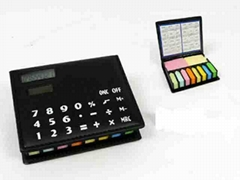 note pad  with  solar calculator and calendar