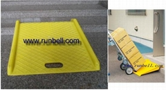 portable curb ramp for hand truck