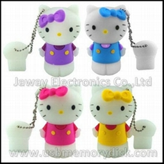 Lovely Cartoon 4GB 3D Hello Kitty USB Flash Disk Memory Stick Pen Drive