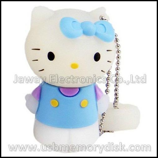 Lovely Cartoon 4GB 3D Hello Kitty USB Flash Disk Memory Stick Pen Drive 3