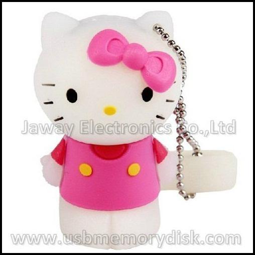 Lovely Cartoon 4GB 3D Hello Kitty USB Flash Disk Memory Stick Pen Drive 4