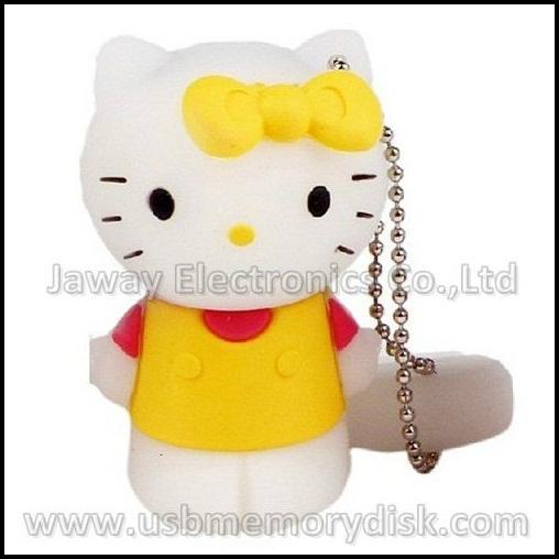 Lovely Cartoon 4GB 3D Hello Kitty USB Flash Disk Memory Stick Pen Drive 5