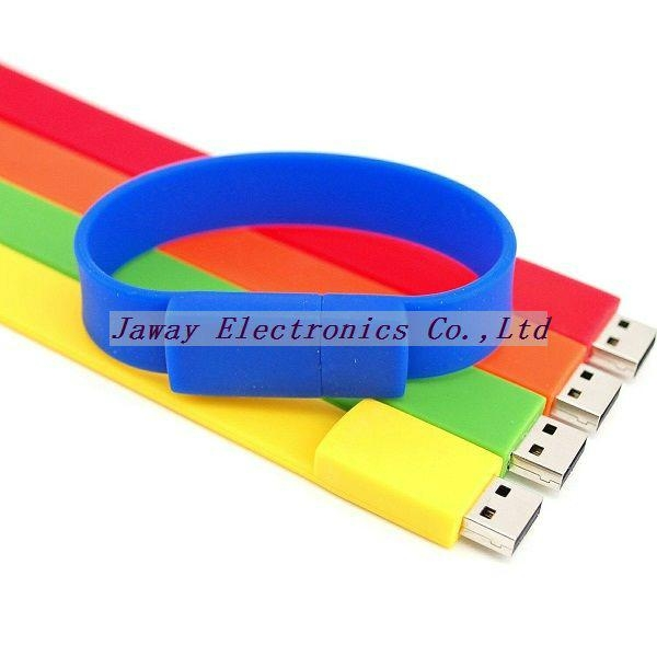 Promotional 1GB Silicone Wrist Band Style USB 2.0 Flash Memory Stick Pen Drive 1