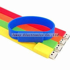 Promotional 1GB Silicone Wrist Band Style USB 2.0 Flash Memory Stick Pen Drive