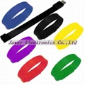 Promotional 1GB Silicone Wrist Band Style USB 2.0 Flash Memory Stick Pen Drive 3
