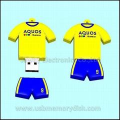 Custom Soccer Team Uniform USB Flash Drive Memory Disk
