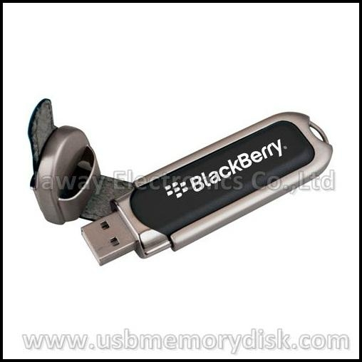 Promotional 4GB Leather Style USB 2.0 Memory Key Pen Drive 4