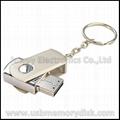 Hotsell Mini Metal Swivel Keyring USB