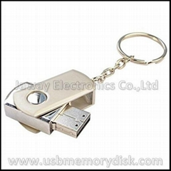 Hotsell Mini Metal Swivel Keyring USB Mass Storage Device Memory Thumb Drive