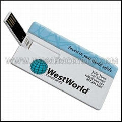 Custom Full Color Printing Credit Card USB Flash Drive