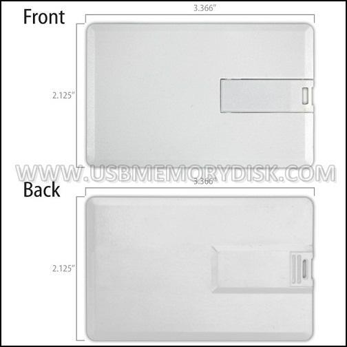 Custom Full Color Printing Credit Card USB Flash Drive 5