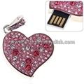 Jewelry Crystal Heart Shape USB Flash