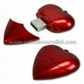 Plastic Heart Shape USB Memory Stick