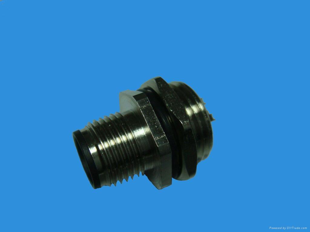 M12連接器針式插座(后板安裝) 1