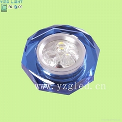 LED crystal ceiling light