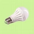 LED 球泡灯白色PC环保节能