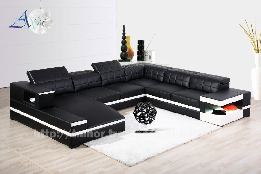... Afosngised Popular Leather Sofa Set 5