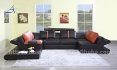 Afosngised Leather Corner Sofa