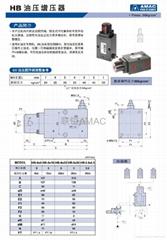 供应台湾联镒AMAC  HB油压顺序阀