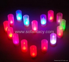 led candle cup ,blow off and on