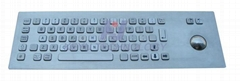 Antivandal Keyboard with Trackball