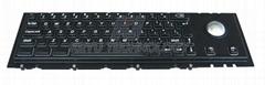 Black Metal keyboard with Trackball