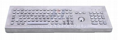 Stainless steel Desktop Keyboard with trackball and numeric keypad