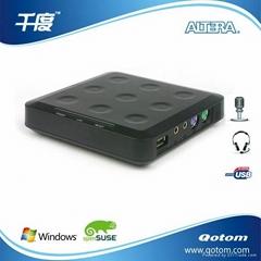 千度電腦共享器Qotom-N23 帶麥克風接口