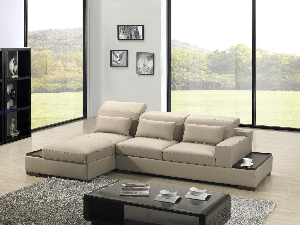 Modern corner sofa in the living room