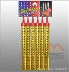 18CM golden laser paper cake fireworks