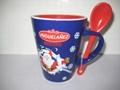 porcelain mug with Spoon