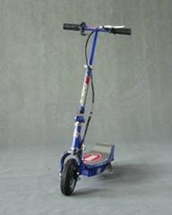新款热销的100瓦可折叠的PU轮电动滑板车