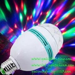 rotating RGB LED bulb light for disco party
