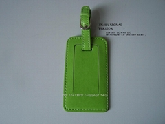 PVC or PU leather luggage tag
