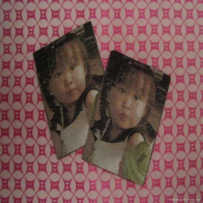 photo woven label(3D) 1